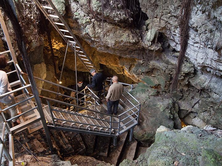 Sake cellar in Kin Limestone cave